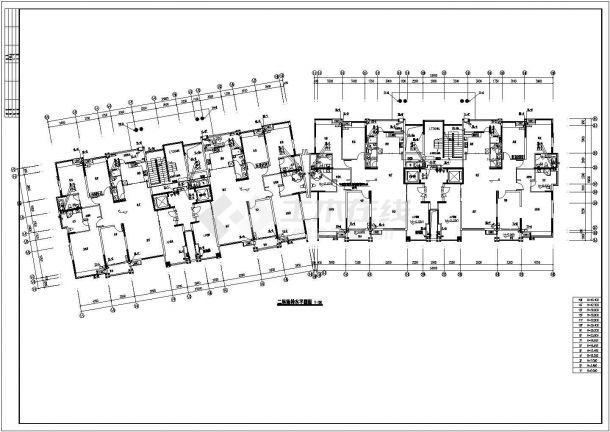 镇江市玉峰花园小区五栋高层住宅楼全套给排水设计CAD图纸-图二
