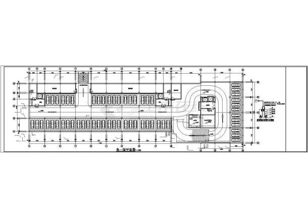 上海市崇明区某1.6万平米7层框架结构商住楼全套给排水设计CAD图纸-图一