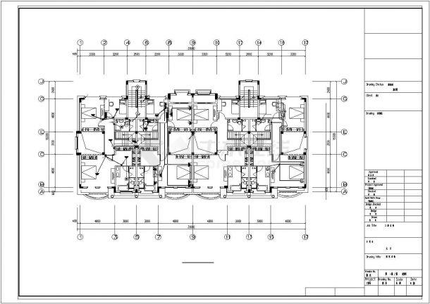4层4户联排2户叠拼别墅电气施工图纸设计,含设计说明-图二