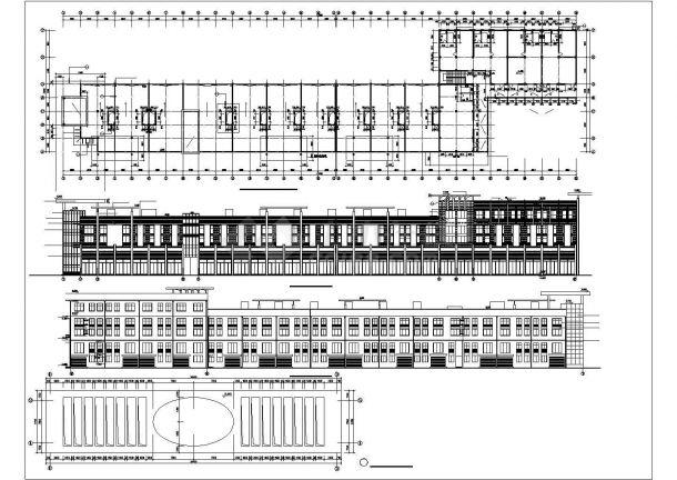 6700平米2+1层框架结构商业步行街全套建筑设计CAD图纸-图一