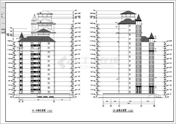 某城市现浇钢筋混凝土结构高层民用住宅楼建筑设计全套cad图(含建筑设计说明、建筑装修做法表)-图一