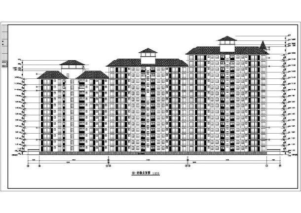 某城市现浇钢筋混凝土结构高层民用住宅楼建筑设计全套cad图(含建筑设计说明、建筑装修做法表)-图二