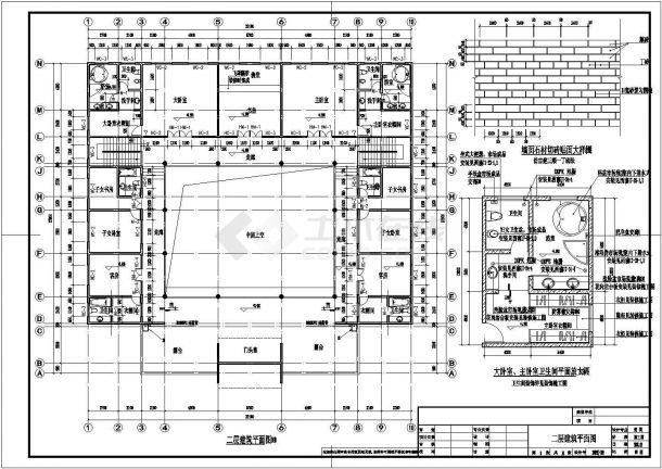 【扬州】某景区仿古四合院建筑设计施工图(带效果图)-图一