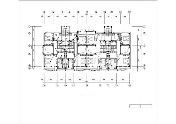 长31.6米 宽23.4米 -1+4层4户联排2户叠拼别墅电气设计cad施工图纸(含电气设计说明,甲级设计院设计)-图一