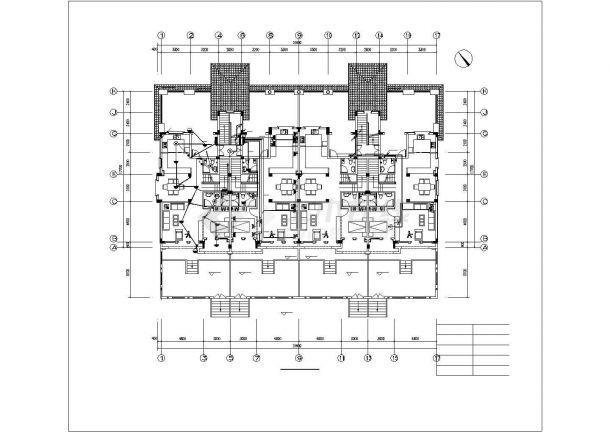 长31.6米 宽23.4米 -1+4层4户联排2户叠拼别墅电气设计cad施工图纸(含电气设计说明,甲级设计院设计)-图二
