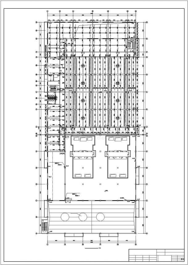 郑州市某工厂4层框架结构加工车间全套给排水和消防设计CAD图纸-图一