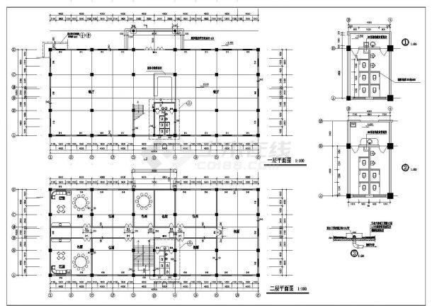 某县独栋酒店建筑施工图纸-图二