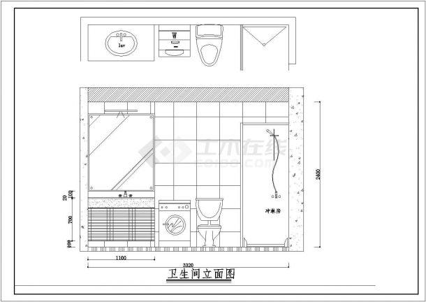 住宅设计_某地区花园小区设计施工CAD图-图二
