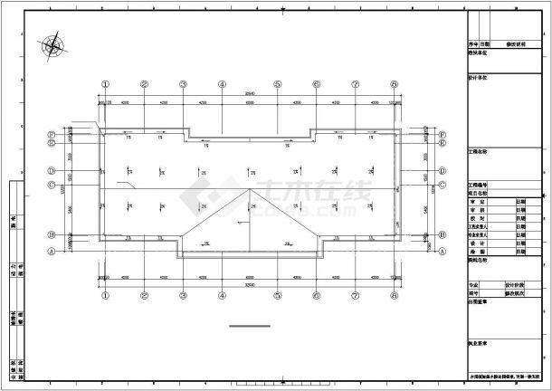 某大型污水处理厂建筑给排水及工艺设计施工方案CAD图纸-图一