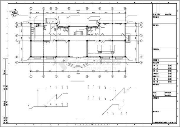 某大型污水处理厂建筑给排水及工艺设计施工方案CAD图纸-图二