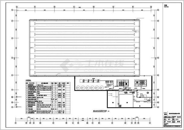某大型健身中心游泳馆水处理设计施工方案CAD图纸-图一