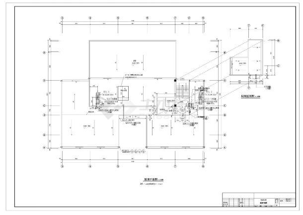 某学校五层行政办公楼建筑方案cad图纸-图一