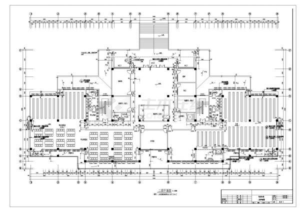 某学校五层行政办公楼建筑方案cad图纸-图二