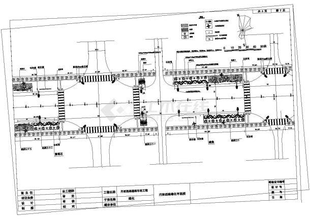 某月岩西路绿化工程道路绿化施工全套设计cad图-图二
