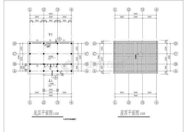 【杭州】某园林景区古建筑建筑施工全套设计cad图-图一