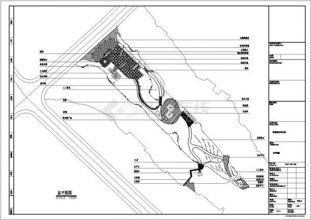 郑楼镇某休闲公园施工全套设计cad图(含总平面图)-图一