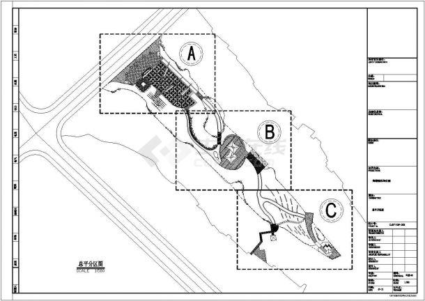 郑楼镇某休闲公园施工全套设计cad图(含总平面图)-图二