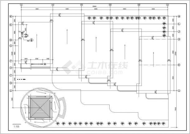 杭州市昌江路某830平米单层砖混结构私立幼儿园平立面设计CAD图纸-图一