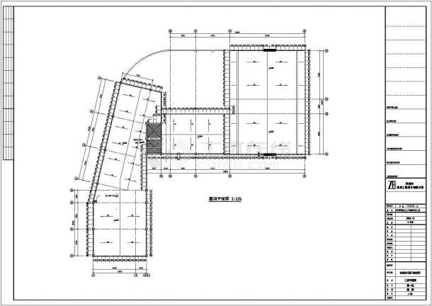 北京市朝阳区广福路某社区幼儿园5层框架结构教学楼平面设计CAD图纸-图一