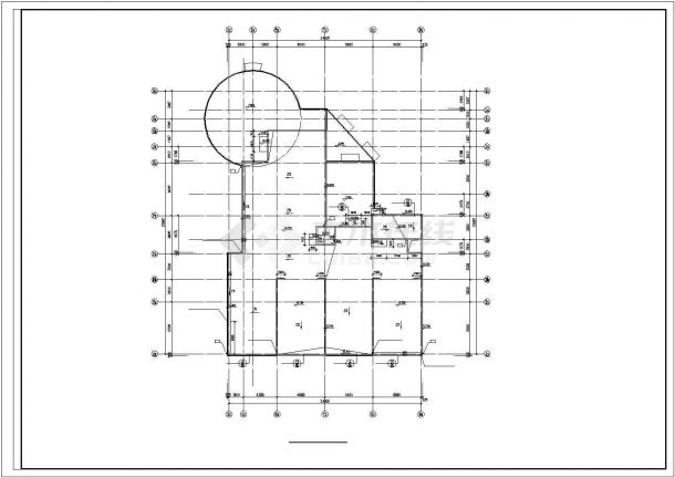 兰州市丝绸路某社区幼儿园3层框架结构教学楼建筑设计CAD图纸-图一