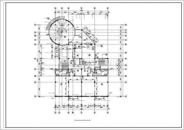 兰州市丝绸路某社区幼儿园3层框架结构教学楼建筑设计CAD图纸-图二