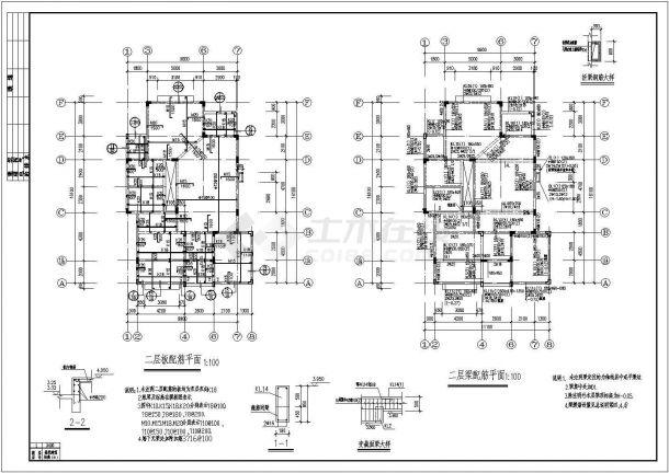 某精品欧式别墅建筑结构施工图(含建筑总说明)-图一