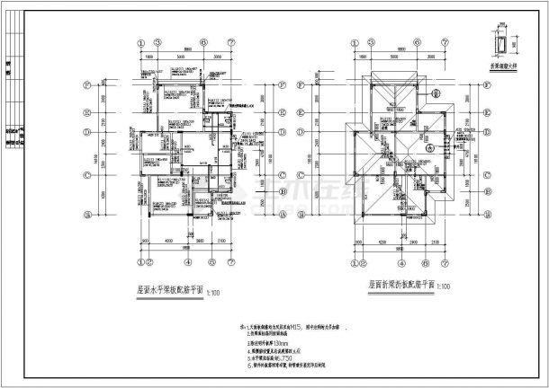 某精品欧式别墅建筑结构施工图(含建筑总说明)-图二