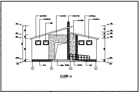 某市单层砖混结构公厕建筑结构施工cad图_公厕施工-图二