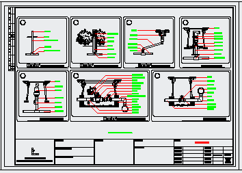 绿化平面图(给排水)滴灌系统设计图纸-图一