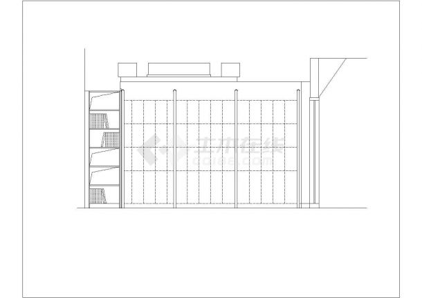 某地布衣坊店面建筑设计cad施工图-图二