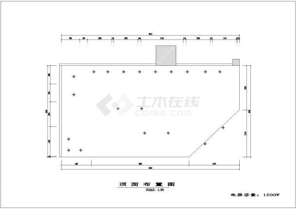某地服装专卖店装修详细设计cad施工图-图二