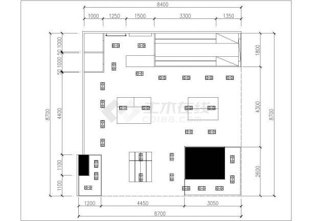 某地服装专卖店装修设计cad施工图(含效果图)-图一