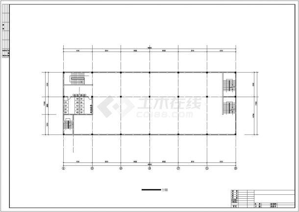 3200平米6层框混结构高档旅馆平面设计CAD图纸(2套方案/含总图)-图一