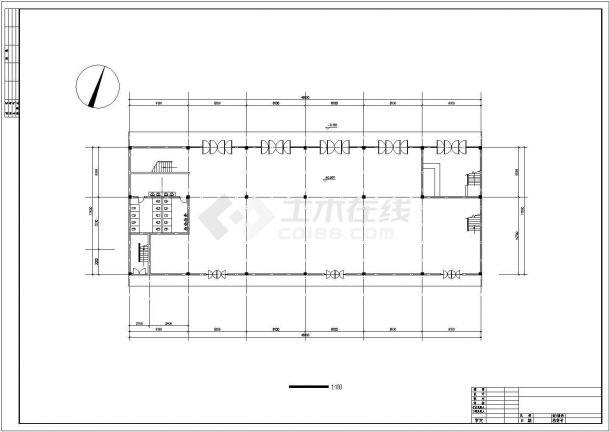 3200平米6层框混结构高档旅馆平面设计CAD图纸(2套方案/含总图)-图二