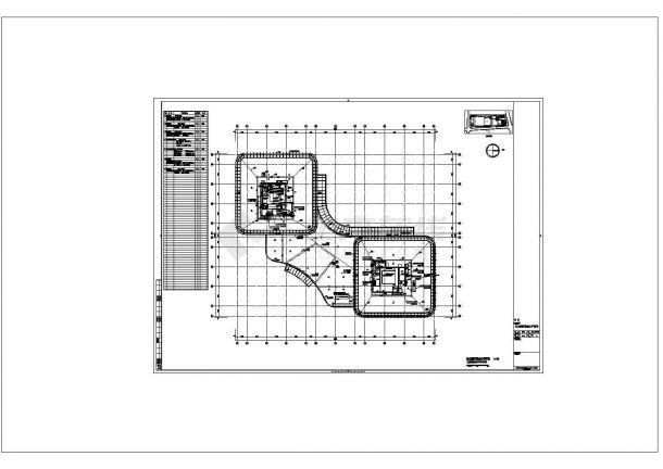 办公与会展中心强弱电系统全套cad设计施工图-图一