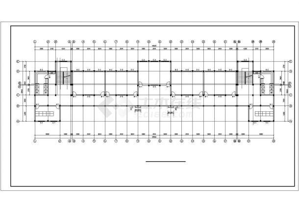 65x16米左右七层框架结构教学楼全套平面设计CAD图纸-图一