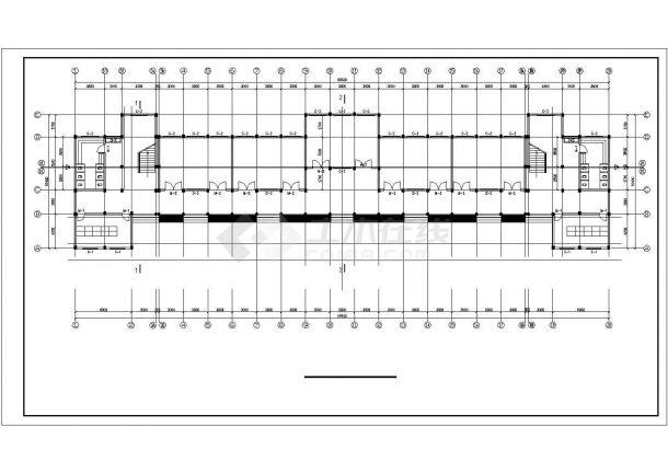 65x16米左右七层框架结构教学楼全套平面设计CAD图纸-图二