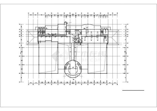 3500平米3层钢框架结构体育会所各层空调水管平面设计CAD图纸-图二
