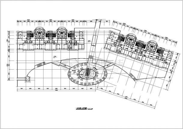 2.7万平米左右32层框剪结构商住楼平立面设计CAD图纸(1-2层商用)-图一