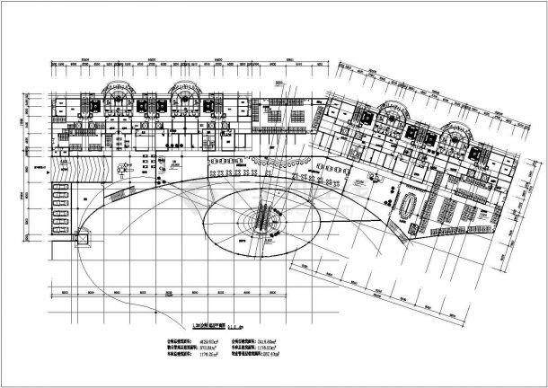 2.7万平米左右32层框剪结构商住楼平立面设计CAD图纸(1-2层商用)-图二
