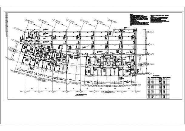 某框架结构办公楼 cad设计施工图-图一