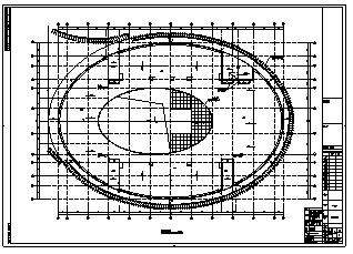 活动中心设计_某市4层带半地下室现代风格活动中心建筑施工cad图纸-图二