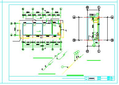 某污水处理厂设计cad全套施工图纸-图二