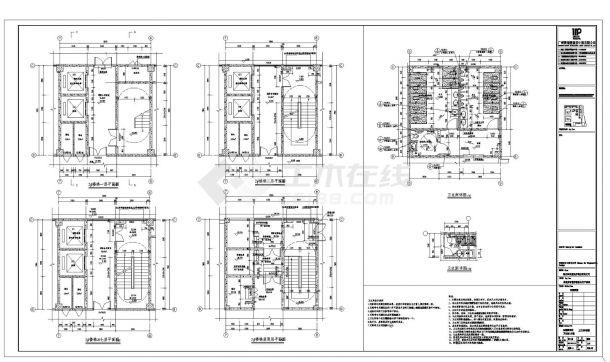 [湖北]七层工业厂房建筑设计施工cad图纸-图一