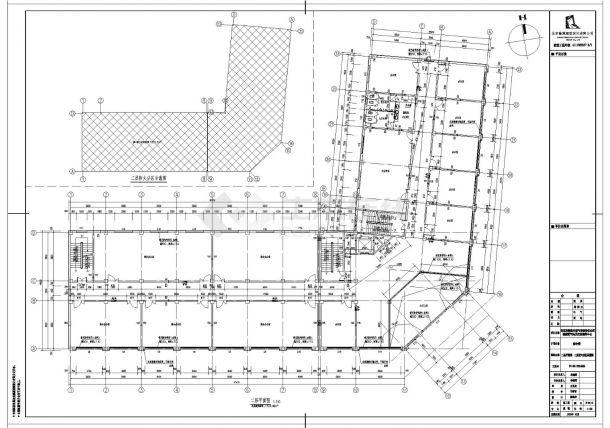 [宁夏]现代风格天然气公司加气站及办公楼施工cad图纸-图一