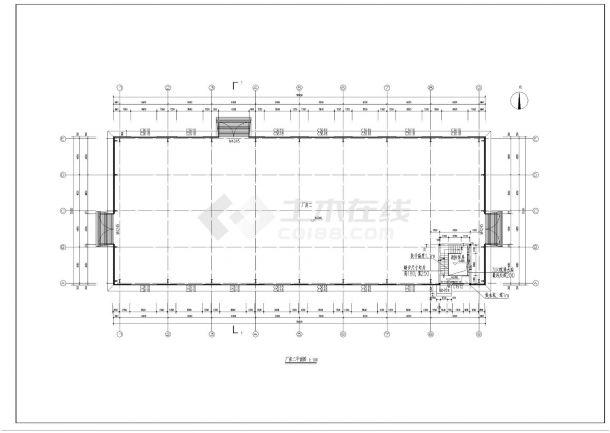 [唐山]简洁工业厂房及办公楼建筑施工cad图纸-图一