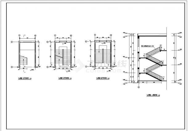 [唐山]简洁工业厂房及办公楼建筑施工cad图纸-图二