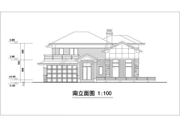某村镇330平米2层砖混结构自建民居楼平立面设计CAD图纸(含效果图)-图一