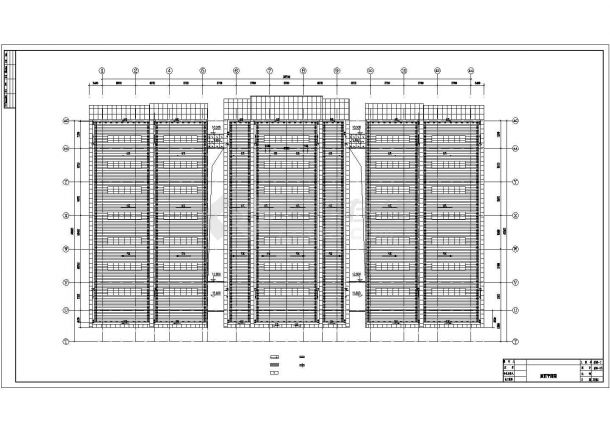 [安徽]大型体育场建筑全套施工图(含主馆、副馆和体育场)-图一