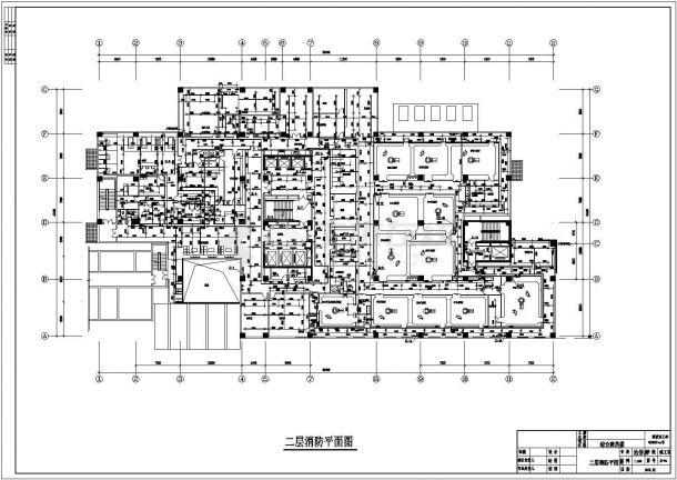 排水设计_某医院给排水施工CAD图纸-图二